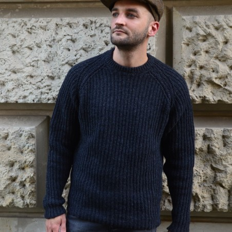 Irischer Wollpullover mit Raglanärmeln von FISHERMAN out of IRELAND