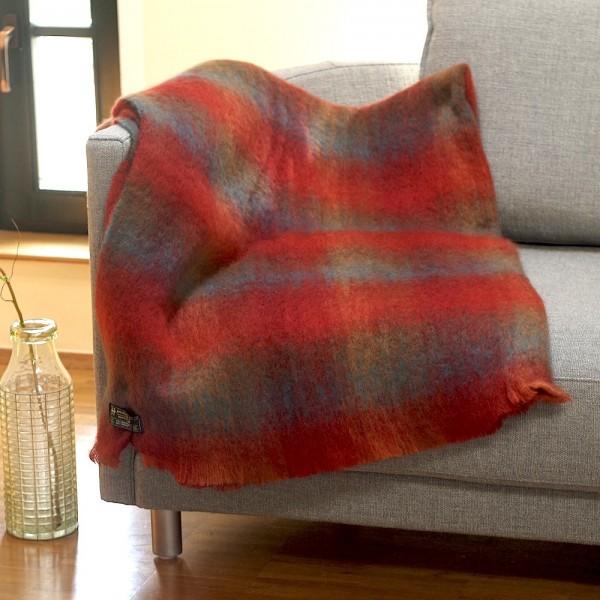 Irische Mohair Wohndecke RED ROCK von der Weberei JOHN HANLY & Co.
