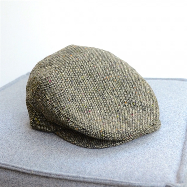 Original irische Tweed Mütze GREEN LAHINCH von der Weberei JOHN HANLY & Co.
