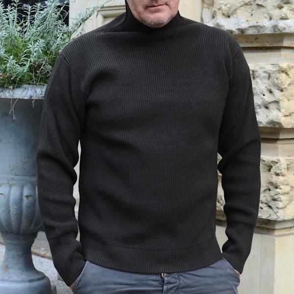 Schwerer Seemanns-Pullover im Rippenstrick mit Turtle Neck von Andersen Andersen