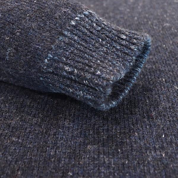 Ein mutiger, schöner Pullover vom irischen Edel-Label INIS MEÁIN Knitting.