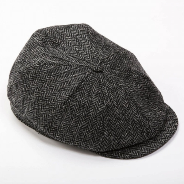 Tweed Cap | 8 Pieces |Grey