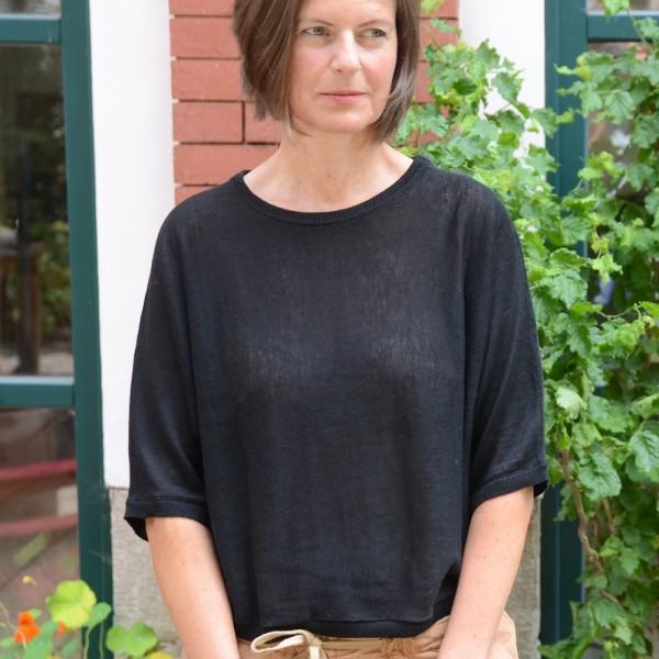Luftiges Leinen-Shirt mit 3/4 Arm von Les Racines du Ciel