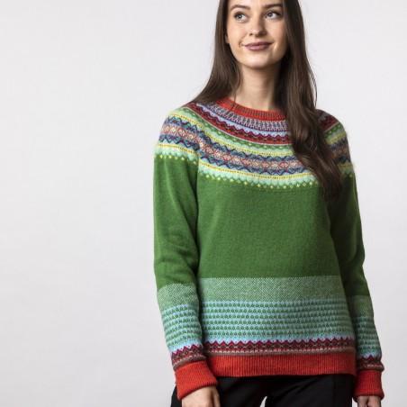 "Fair-Isle-Pullover  vom schottischen Label ERIBÉ im Farbmuster ""paradise""."