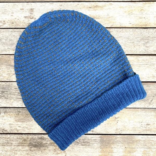 Bird´s Eye Stitch Hat - Geelong Mütze von Fisherman out of Ireland, Farbe sea grey