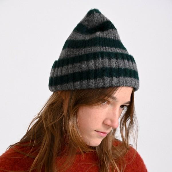 Hard Working Hat, gestreifte Mütze vom belgischen Label HOWLIN aus reiner Schurwolle