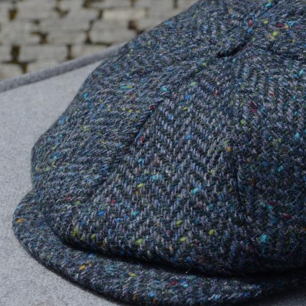 Irische Tweed Mütze SEA 8P von der Weberei JOHN HANLY &