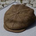 Irische Tweed Mütze WOOD 8P von der Weberei JOHN HANLY &