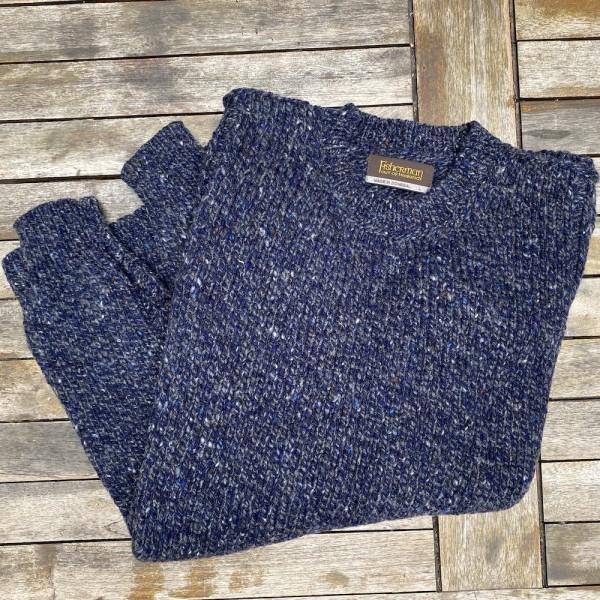 Kerniger Fisherman-Pullover für Herren aus reinem Donegal Tweed  von FISHERMAN out of IRELAND.