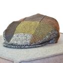 Original irische Patch Tweed Mütze  EIR von der Weberei JOHN HANLY & Co.