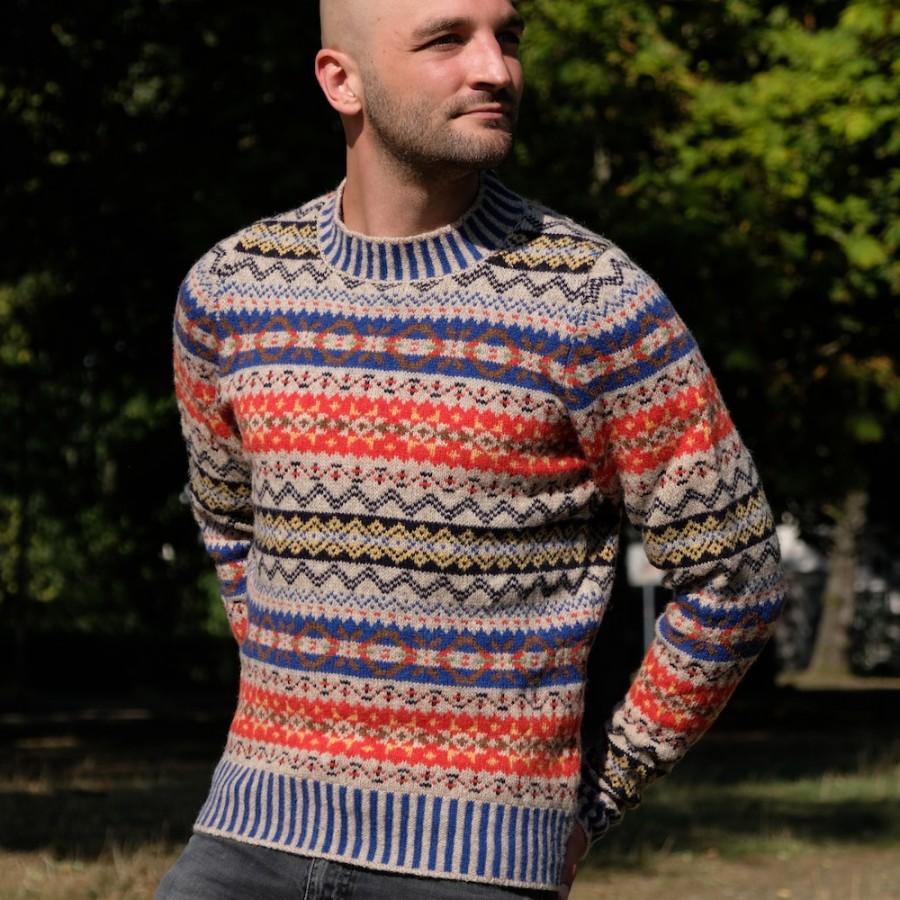 Fair isle herrenpullover von erib aus schottland the wollpullover - Fair isle pullover damen ...
